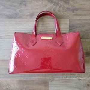 Louis Vuitton Wilshire monogram Vernis pm Red